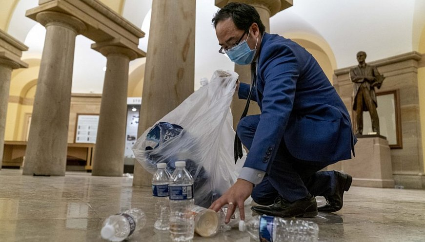 'What Else Could I Do': New Jersey Congressman Helps Clean Up The Capitol