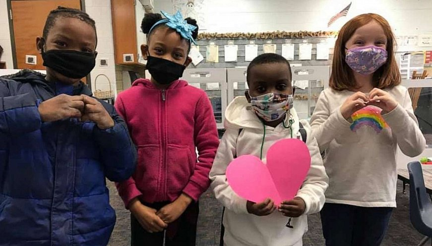 Students Sell Paper Hearts To Help Fellow First-Grader In Need Of A Heart Transplant