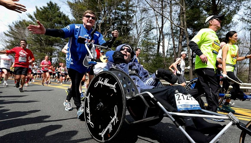 Dedicated Dad Pushed Son In Wheelchair In 1,000+ Races Over 40 Years