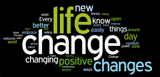 change in my life Making major life changes  you can see how these qualities build on one another faith allows you to initiate change in your life, .