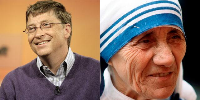 how mother teresa changed the world Sir, bill gates used the power of money to change the world, and mother teresa  used the power of love to change the world and i think love is.