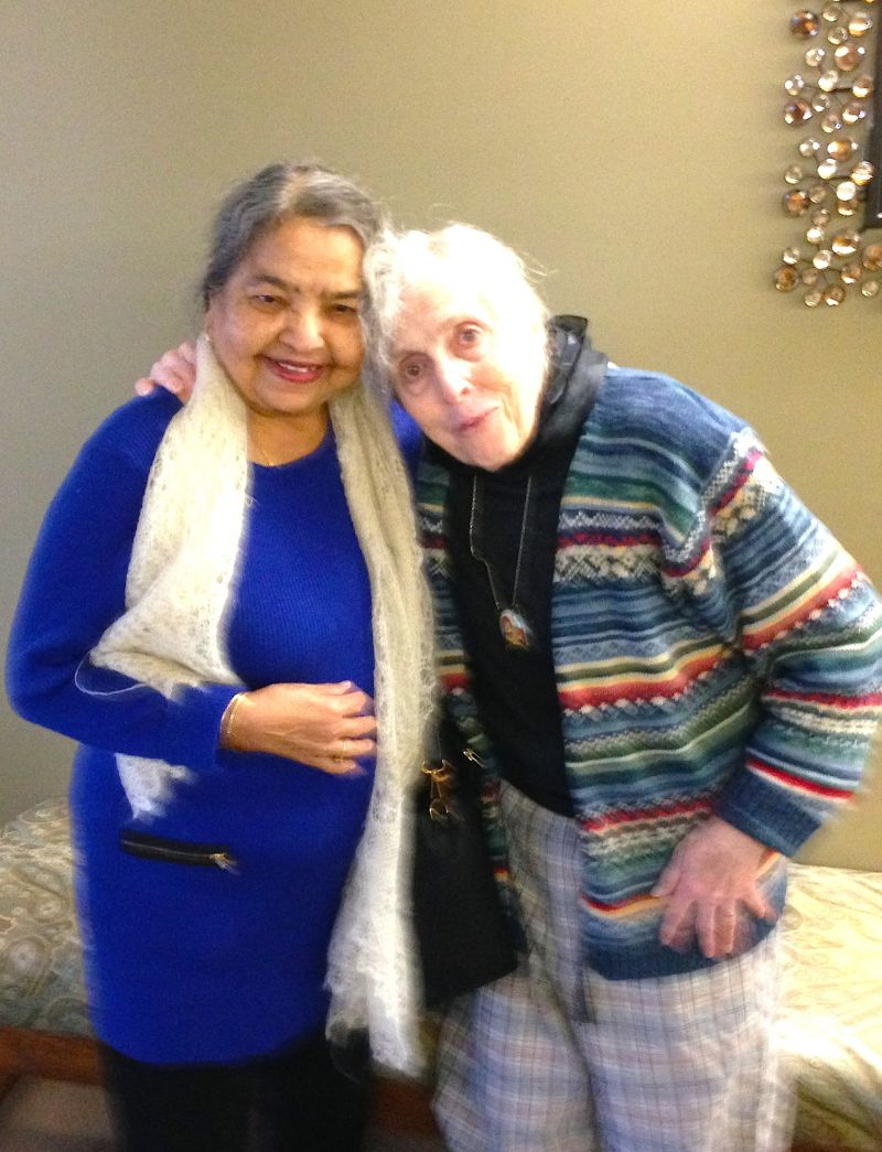 Preeta's mother and Valerie during their final (spontaneous) visit in Kansas in November 2017.