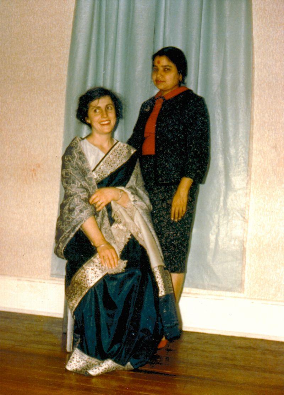 Preeta's mother and Valerie in 1969 in Lawrence, Kansas.
