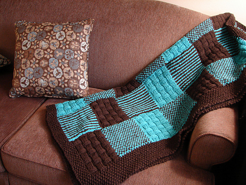 Free Knitting Pattern For Patchwork Quilt : Blanket Of Warmth KindSpring.org