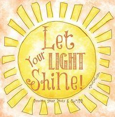 Carry Your Flashlight Let Your Light Shine Bright Kindspringorg