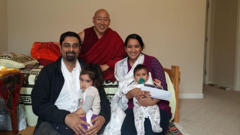 Rahul, Asha, Uma & Kabir Brown with State Oracle of Tibet
