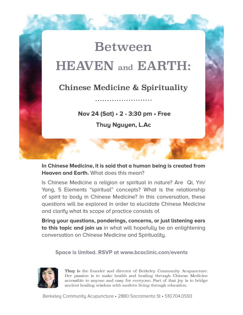 Between Heaven and Earth: Chinese Medicine and Spirituality