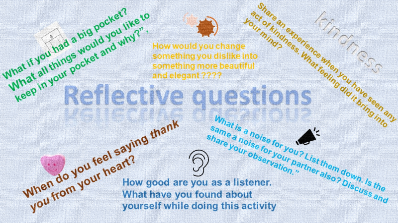 Reflective questions alongwith task